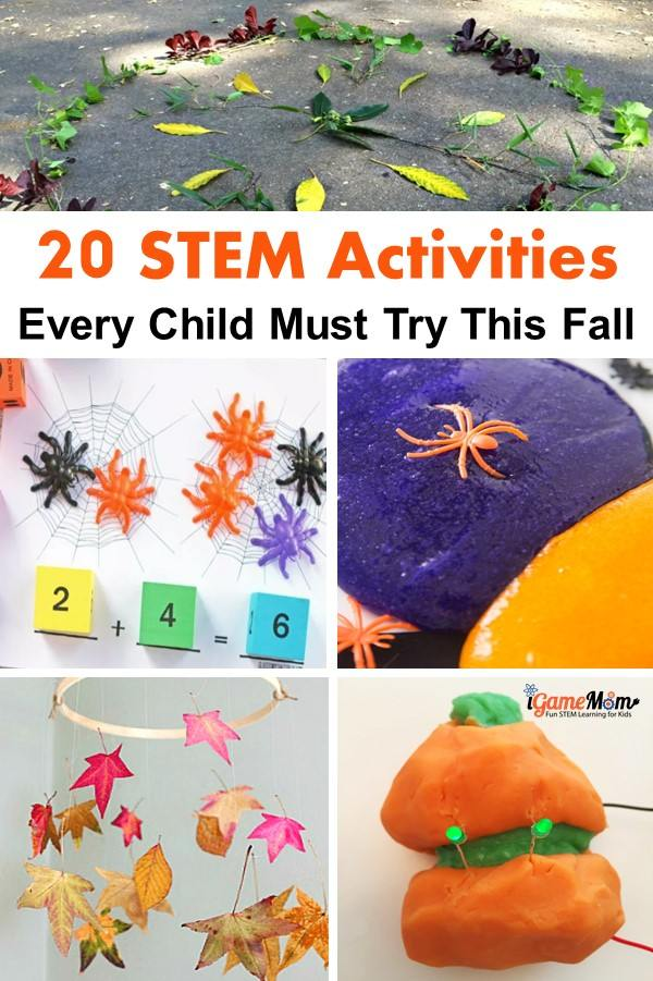 Must try STEM activities this Fall season for kids, science tech engineering math