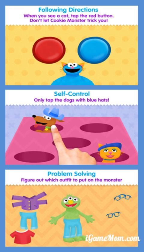 Play games and learn life skills with Cookie Monster