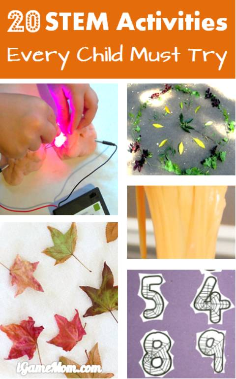 20 STEM activities every child must try, math, science, engineer, technology