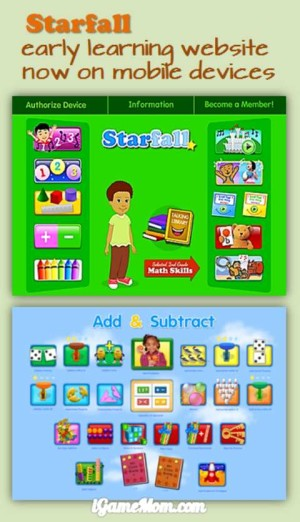 Starfall early learning website now on mobile devices