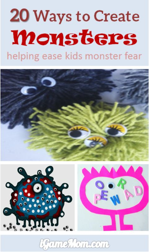 create monsters to ease kids monster fears