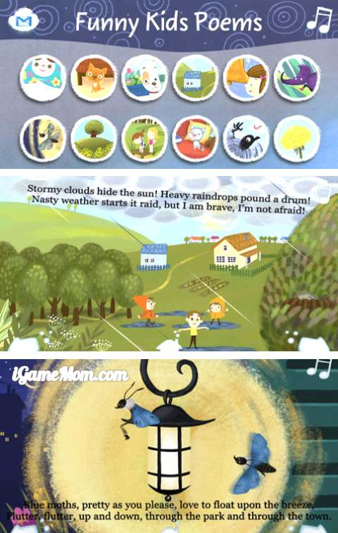 interactive funny poems for kids