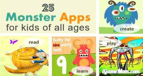 monster themed learning apps for kids