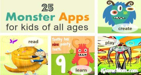 monster themed learning apps for kids