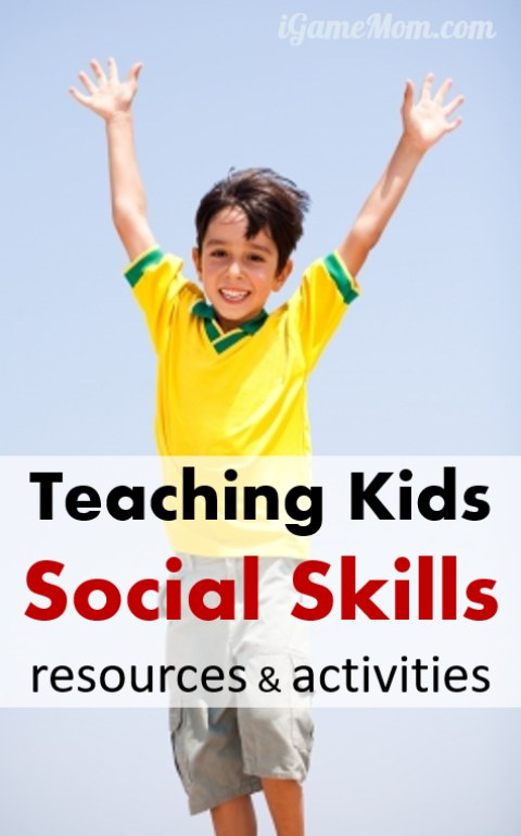 social skill resource activities for kids
