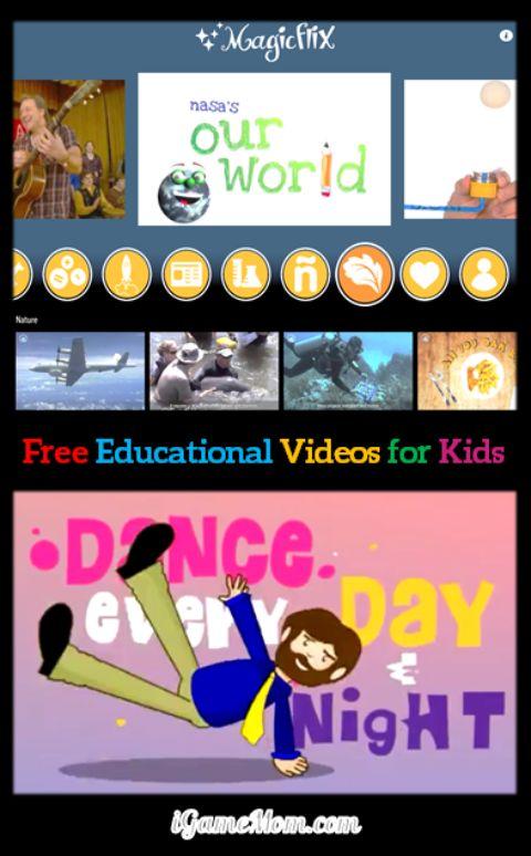 Free App Educational Vidoe Movie for Kids