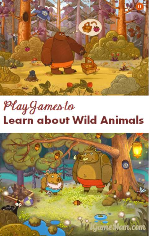 Play games to learn about wild animals - Forestry app for kids