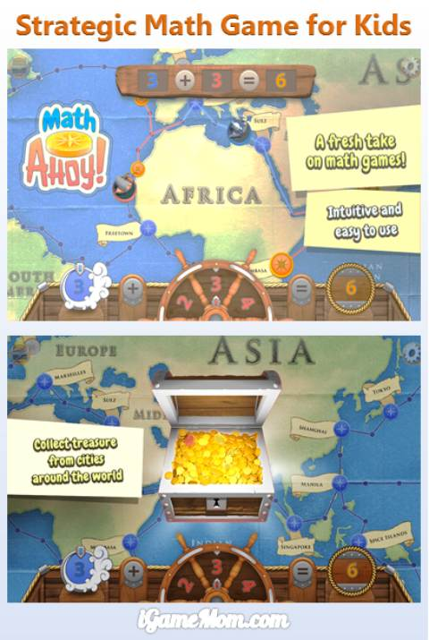 Strategy Math Game App for Kids - Math Ahoy