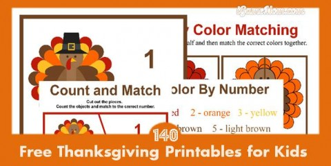 free Thanksgiving printable worksheets for kids learning activities