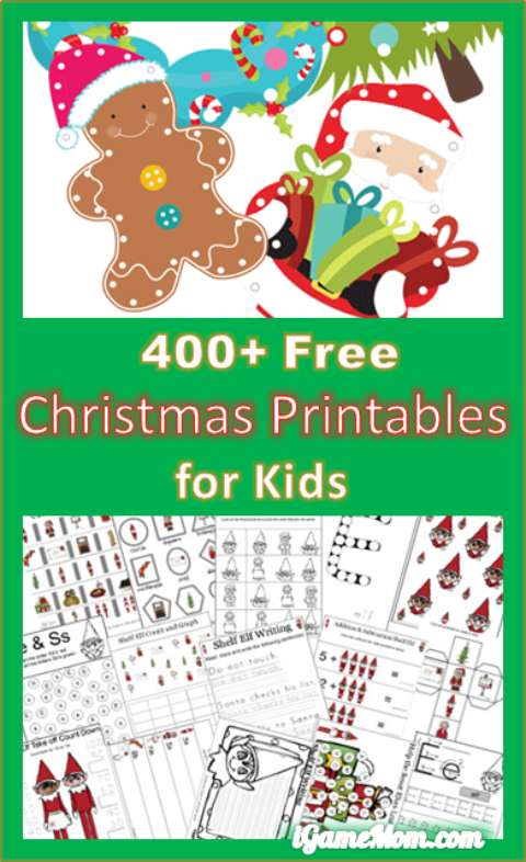 400 free christmas themed learning printables for kids - Holiday Printables For Kids