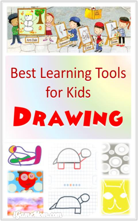 Best learning tools for kids to learn drawing and painting, from learning to draw lines, to shapes, to step-by-step guide of daily objects, to color blend, to art effects and drawing techniques. Wonderful art class resources for painting and drawing tutorials