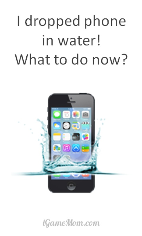 I dropped phone in water - what to do