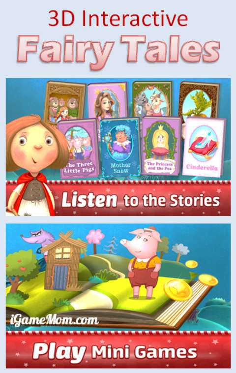 Interactive 3D Fairy Tales Book App