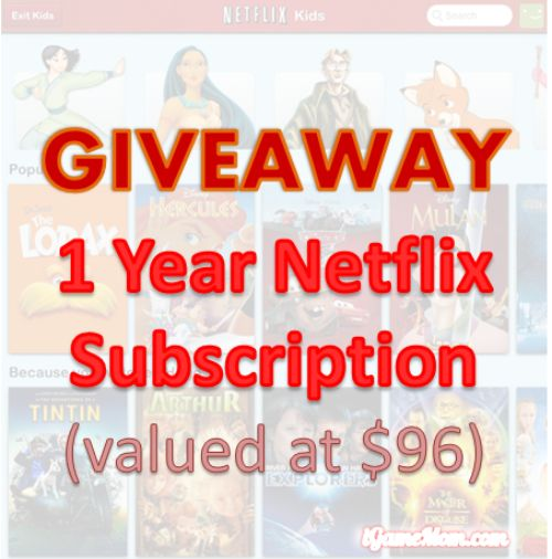 Netflix 1-Year Subscription Giveaway