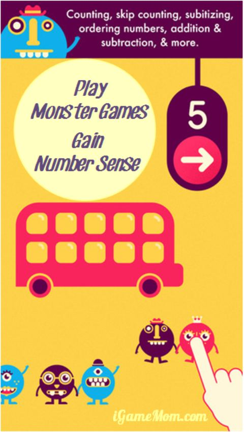 Play Monster Games Gain Number Sense - Fun Math Game App for Preschool Kindergarten Kids