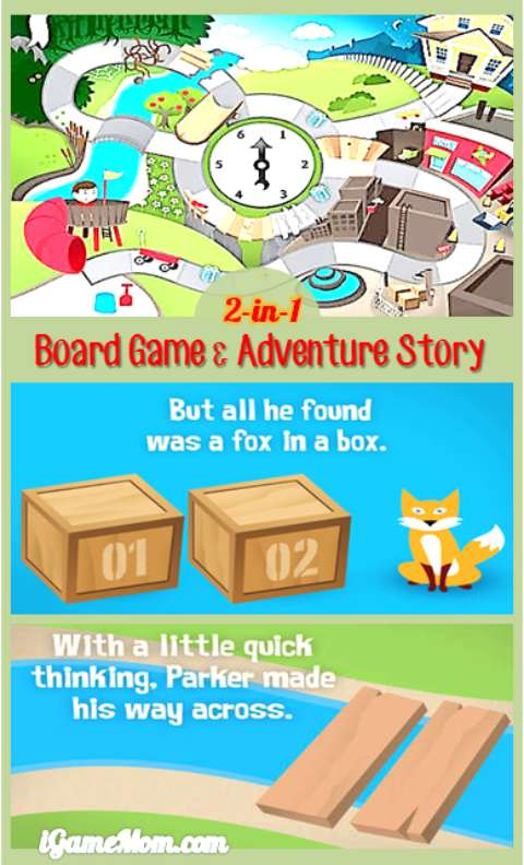 Board games and adventure stories in one app