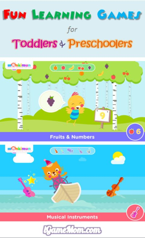 Fun learning game app for toddler preschooler