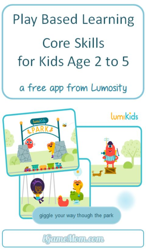 Play based learning for kids core skills - a free app from lumosity