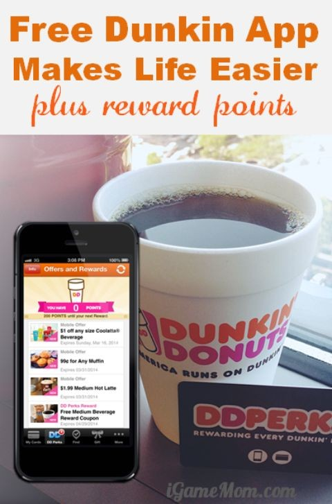 free Dunkin donuts app makes life easier with rewards