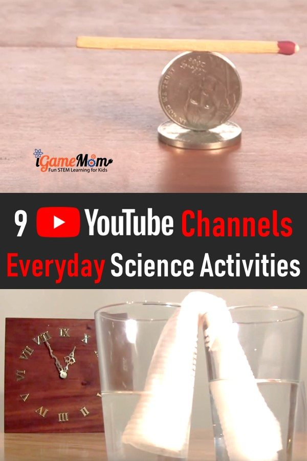 Science video YouTube channels with guide to everyday science experiments you can do at home. Great for science class, science club, homeschool science resource
