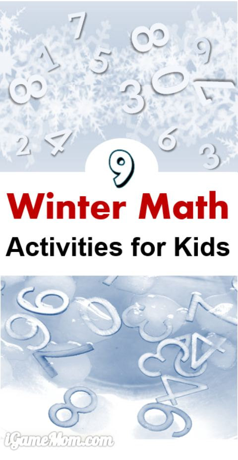 9 Cool Winter Math Activities for Kids PreK to grade 12 - math activities using snowball, snowman, snowflake, frozen, acorn, hot chocolate ...