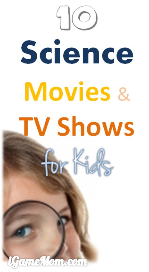 10 Science Movies and Video Shows for Kids, encouraging curiosity and scientific mind - for kids from preschool to high school age, all can be enjoyed by parents too. Great STEM activity idea for kids in the down time or a rainy day.
