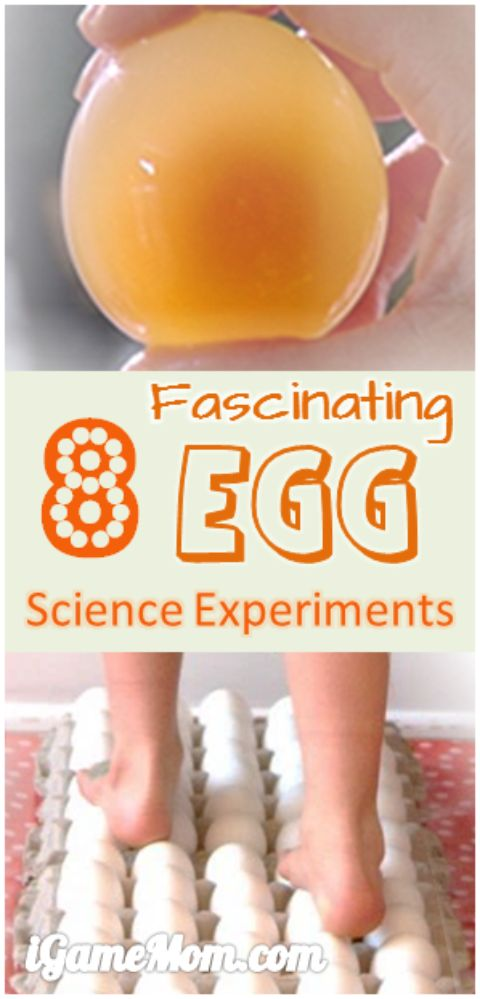 11 fascinating egg science experiments for kids, easy to do at home in the kitchen, also are good ideas for science fairs. Try egg drop, naked egg or rubber egg, walk on eggs, glowing egg, ... Fun kitchen science STEM activities at home and school.