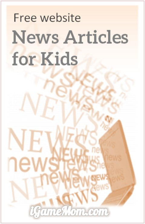 Child-safe Website of Free News Articles for Kids