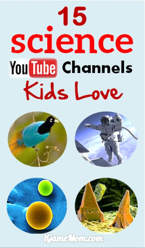 15 cool science YouTube channels kids love. Interesting science videos for kids to learn science behind everyday phenomenon, watch fascinating science experiments, see science explanation of unexpected questions. Great free STEM resource for classroom or homeschool.