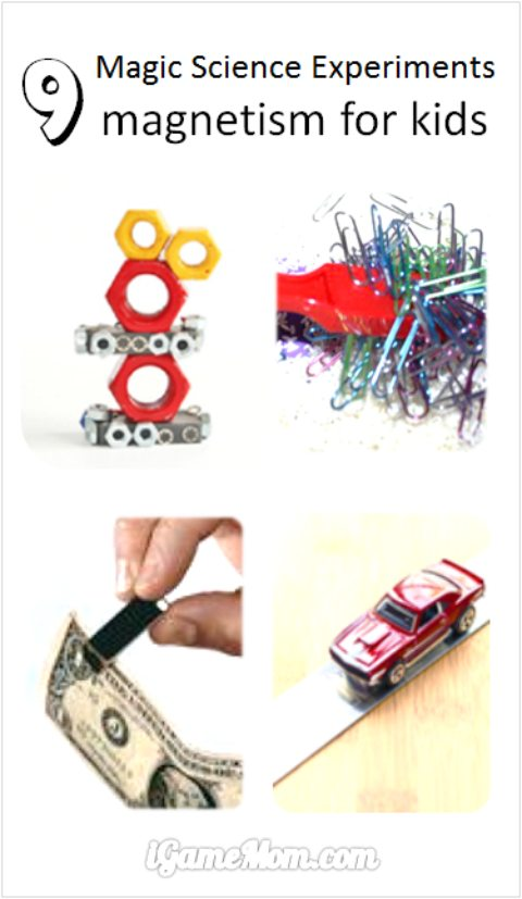 Magical magnet activities for kids, explaining the science of magnetism. Simple STEM activities to intrigue curiosity in science and engineering.