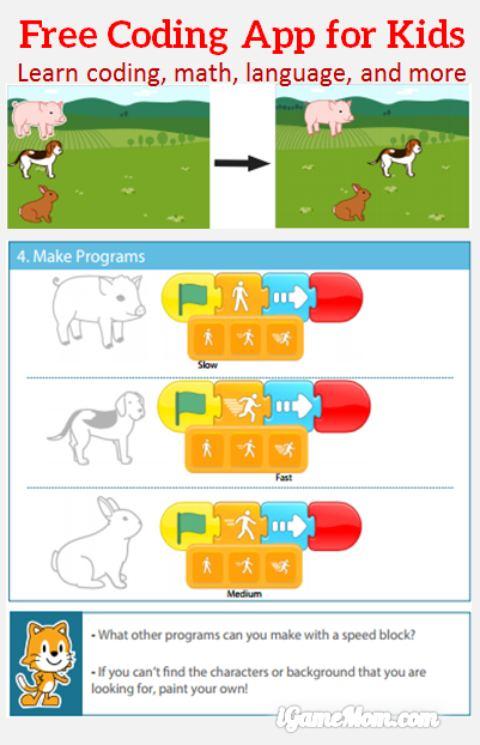 Free coding app for kids Scratch Jr