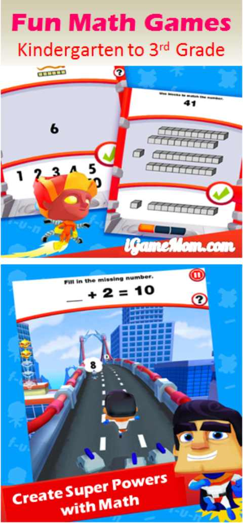 Fun math games app for kindergarten to 3rd grade