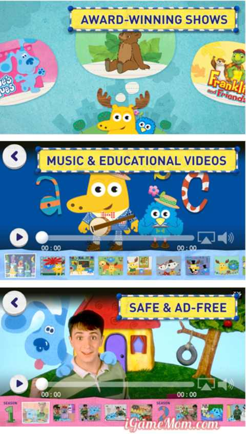 Noggin app for preschool kids streaming shows and educational videos on iPad iPhone