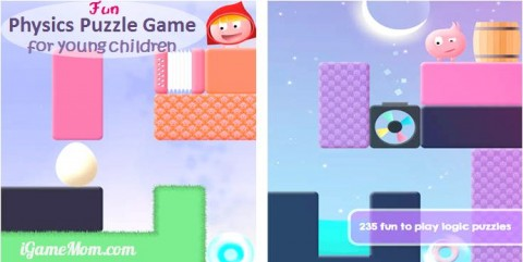 fun physics science game app for preschool to school age kids