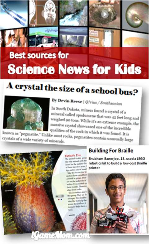 Best science news for kids - Best learning tools for kids series