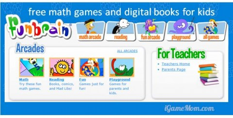 Funbrain free website for kids from preschool to grade 8