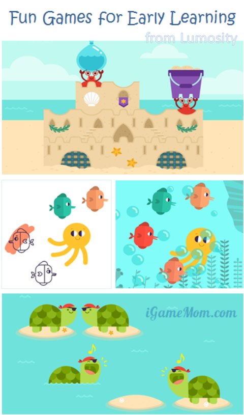 LumiKids Beach Fun Early Learning Game App from Lumosity