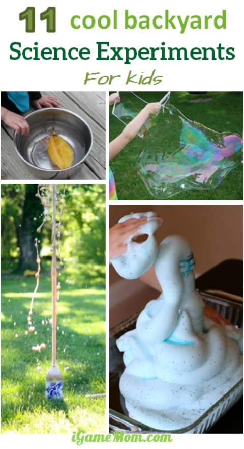Love cool backyard science experiments with kids, great outdoor STEM activities at your backyard science lab. It is like a fun summer camp at home.