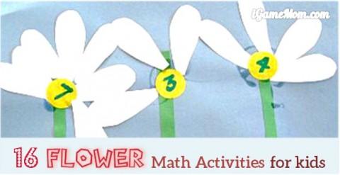flower math activity for kids