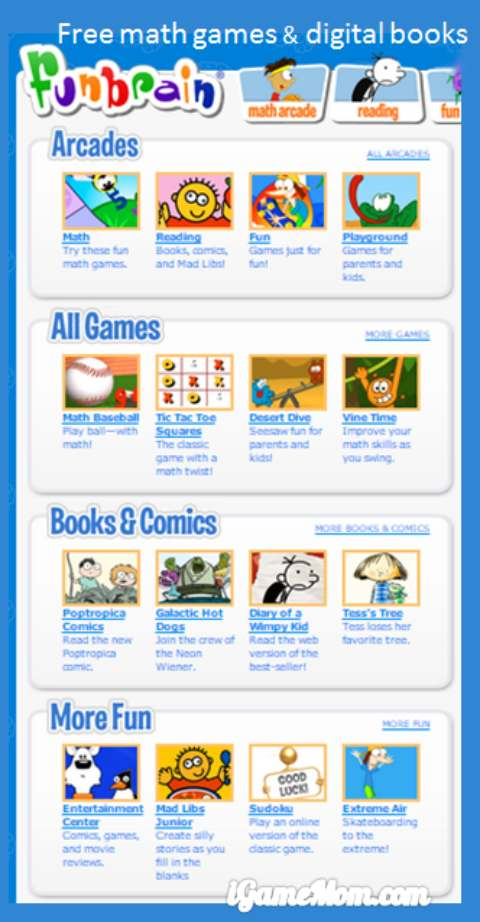 fun free math games digital books for kids from Funbrain