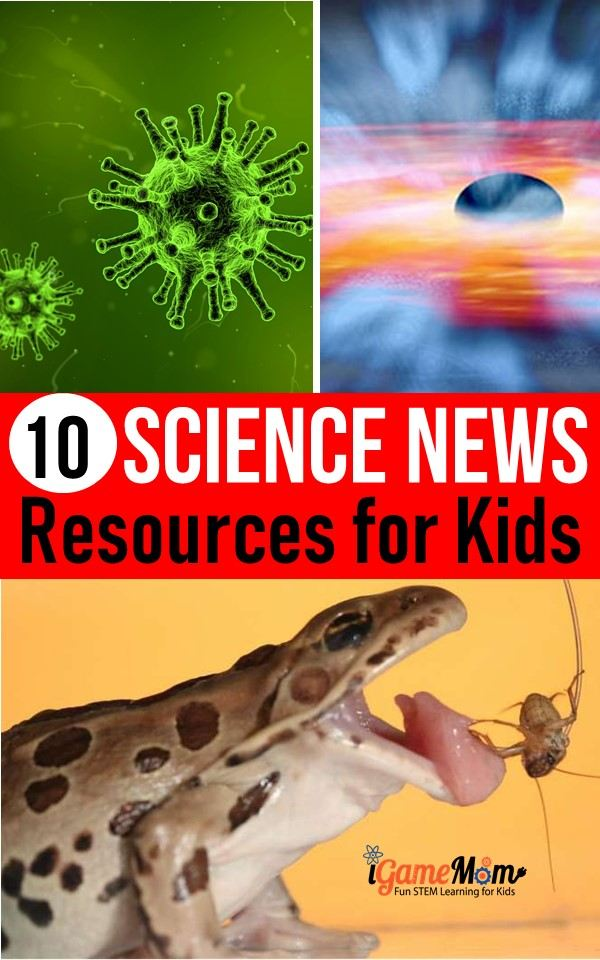 best science news websites for kids, with reading level index and lesson plans