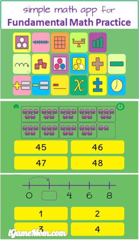 simple math app for fundamental math practice