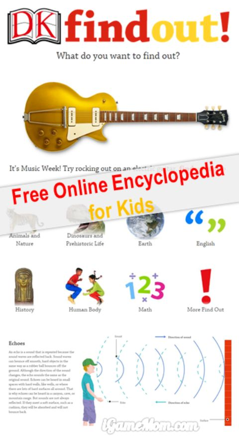 Interactive Encyclopedia for Kids from DKFindOut