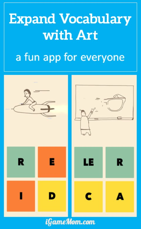 Expand vocabulary with art - a fun app for everyone