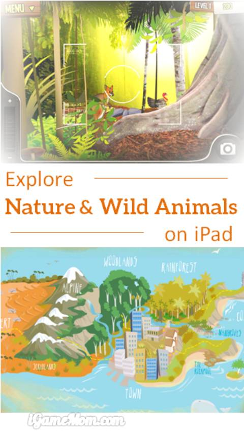 Explore nature wild life on iPad with free app WilderQuest