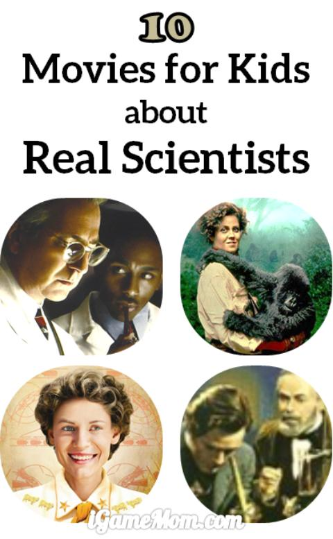 10 kids movies about real scientists -- great stories to teach kids the characters needed to be in science field, and inspire young scientists and everyone to be scientifically curious, persevere over hardships, and work hard.