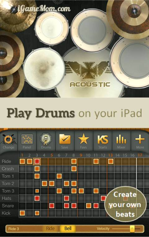 Play drums on your iPad with iAmDrum app