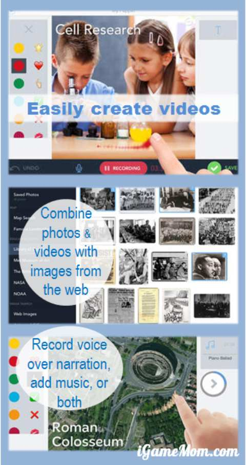 Shadow Puppet App -- creating stories and presentations with photos videos