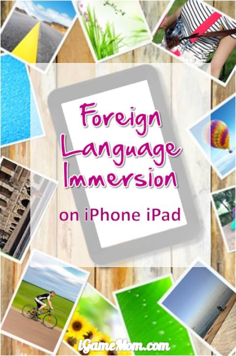 foreign language immersion on iphone ipad computer via videos