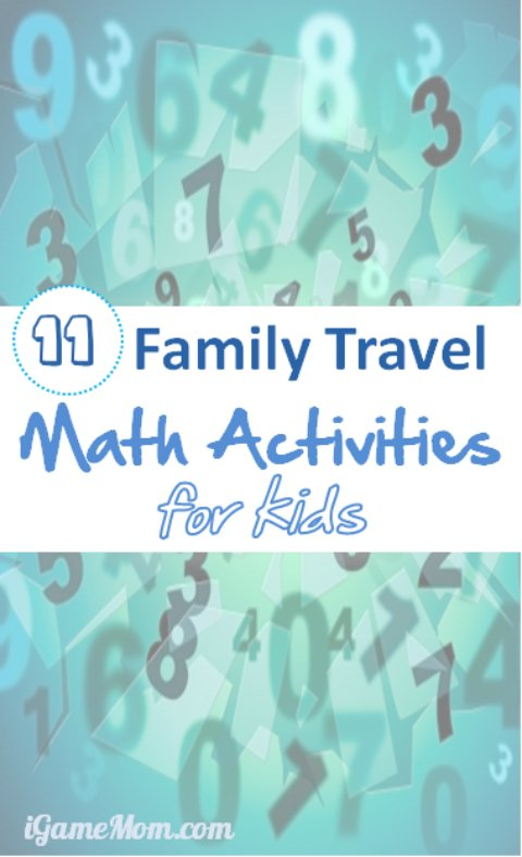 Easy math activities for kids during family road trips, just need paper and pencil. Great STEM activities to show kids math is in every day life. | preschool, kindergarten, grade 1 to 5, middle school | family vacation travel, holiday travel